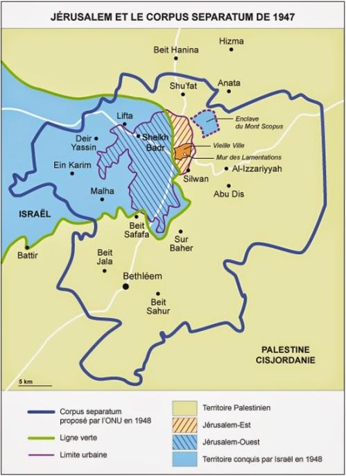 carte Jérusalem 1947-48