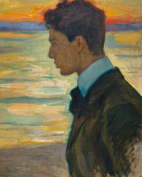 BORIS_BESIDE_THE_BALTIC_AT_MEREKULE,_1910_by_L.Pasternak